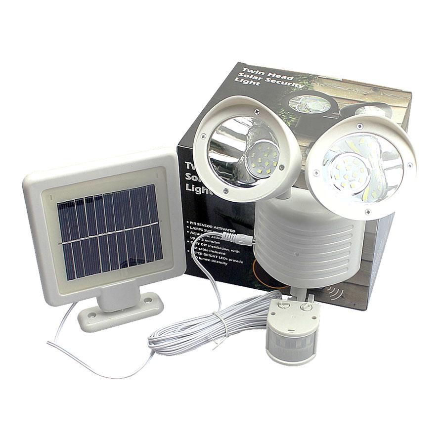 Twin head solar pir sensor spotlight 22led wow store sale aloadofball Gallery